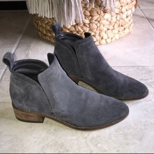 Dolce Vita Tessey Booties - charcoal gray suede